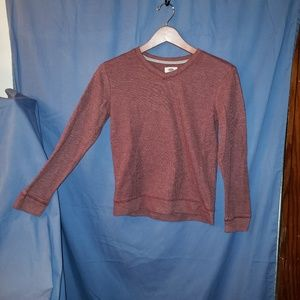 Red/brown long sleeve sweater